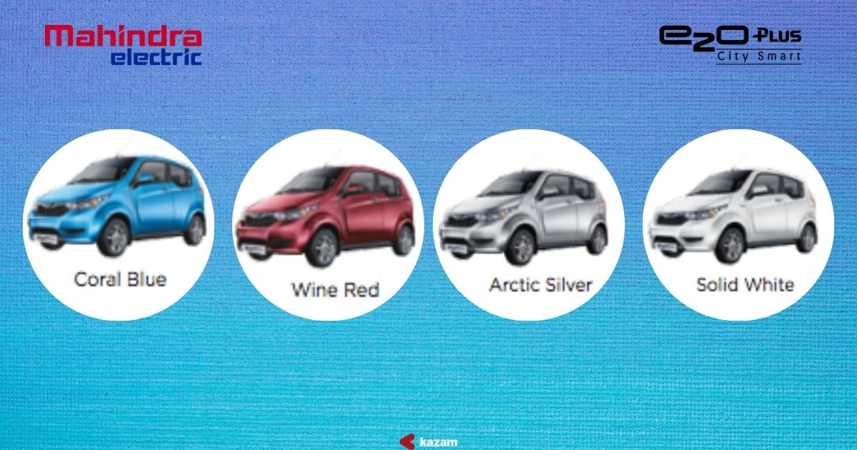 Mahindra e2O Plus is available in 4 colours